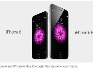 Apple divulga duas versões do iPhone 6