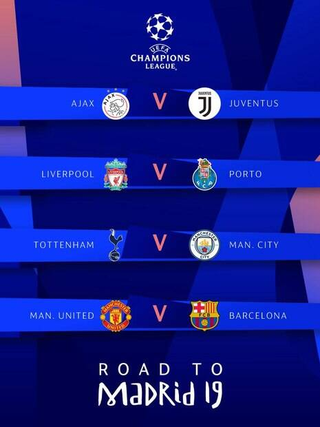 Jogos das quartas de final da Champions League
