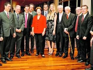 Dilma Rousseff recebeu jornalistas na noite de anteontem no Alvorada