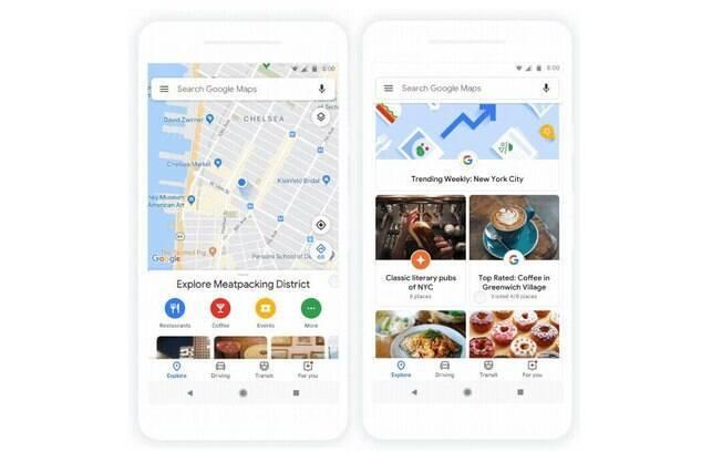 Atualização do Google Maps aposta em visual mais 'clean' e em botões coloridos