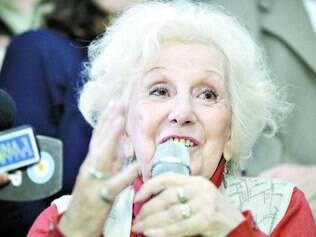 Comemoração. Estela de Carlotto conversou com a imprensa argentina sobre o reencontro com o neto