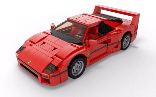 O modelo da Ferrari F40 feito de Lego pode não ter rodas que giram ou outras brincadeiras, mas é tão belo quanto o carro real.