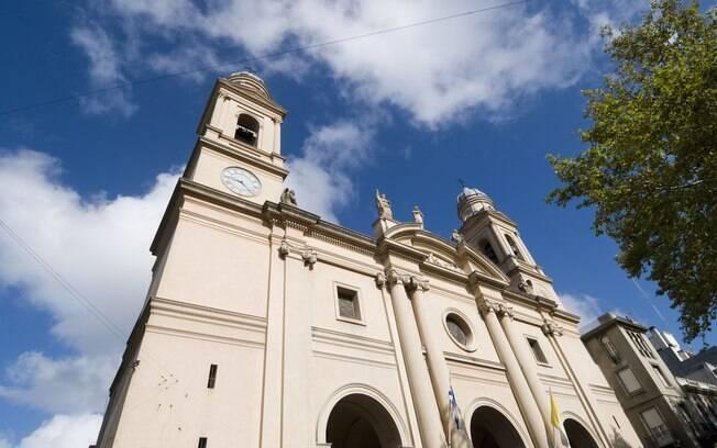 A Catedral Metropolitana de Montevidéu, a igreja matriz da cidade, é um dos monumentos do centro histórico