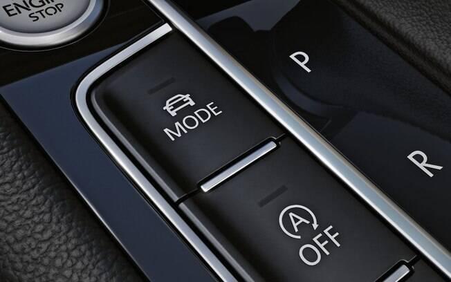 Por meio do seletor do modo de condução você ajusta o carro conforme as mais variadas situações do rodagem