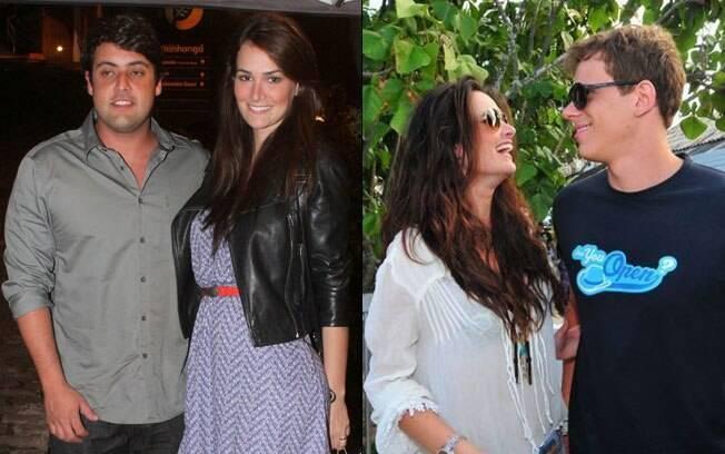 Priscila Machado com seus namorados Bruno de Luca e Cesar Cielo: gostou da troca?