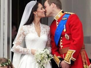 William e Kate no dia de seu casamento, em 2011