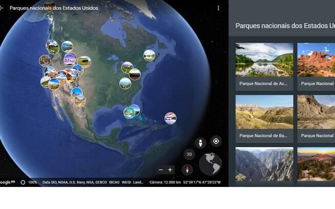 Os parques nacionais no Google Earth te trazem a perspectiva de estar lá