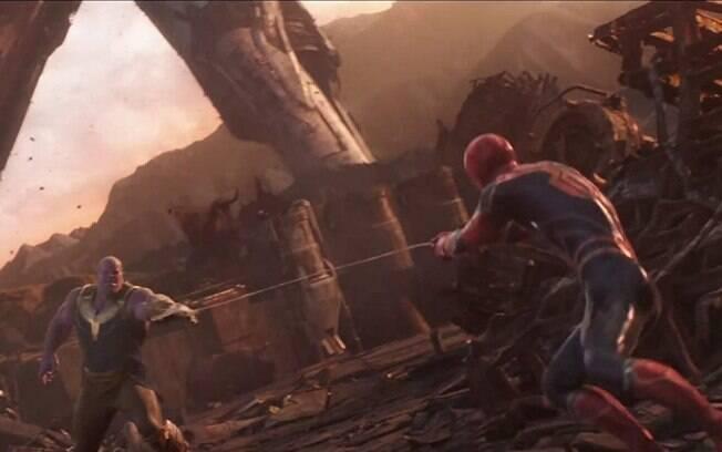 Cenas de super-heróis em 2018! Thanos quase foi derrotado pelos Vingadores em seu planeta