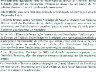 Reivindicações.  Termo de acordo entre PMC e conselheiros  tutelares com as condições estabelecidas
