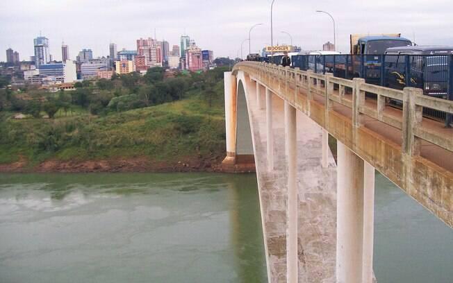 Ponte da Amizade, vista do lado paraguaio