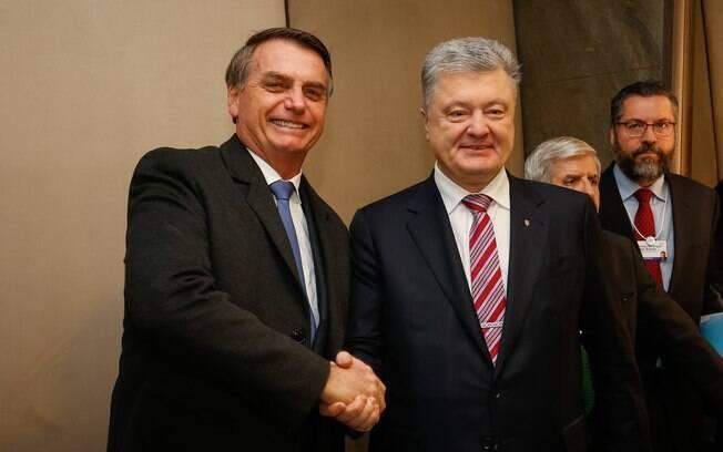 Jair Bolsonaro e Petro Poroshenko