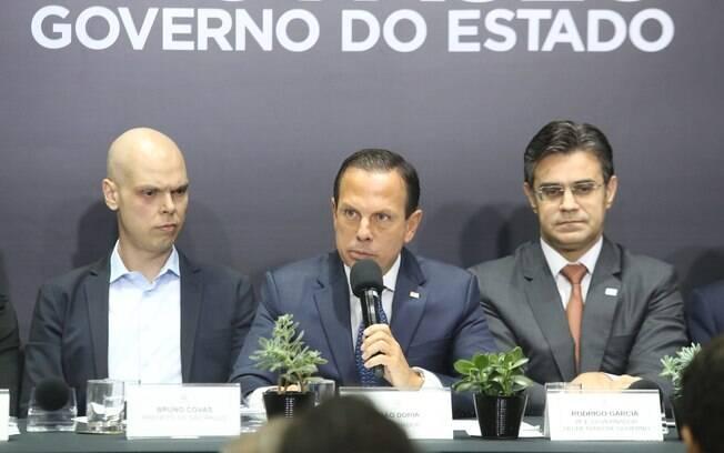 João Doria em coletiva de imprensa sobre linha 6- Laranja do metrô