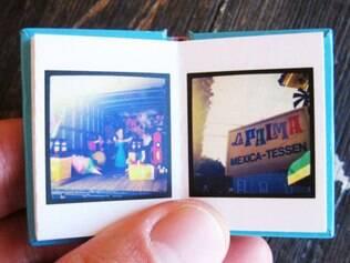 Serviço permite a impressão das fotos em formato micro-livro