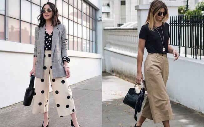 Com a modelagem mais aberta e mais curta, a calça é ideal para dias mais quentes