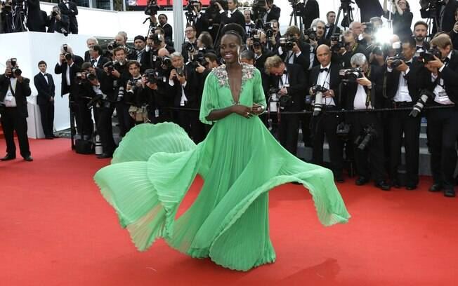 Lupita Nyong'o no primeiro dia do Festival de Cannes