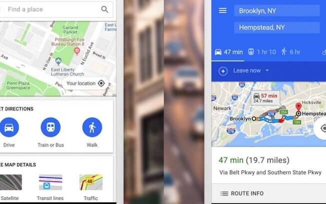 Com o Maps Go, o usuário conta com menos recursos visuais do aplicativo, o que reflete em um menor uso de dados