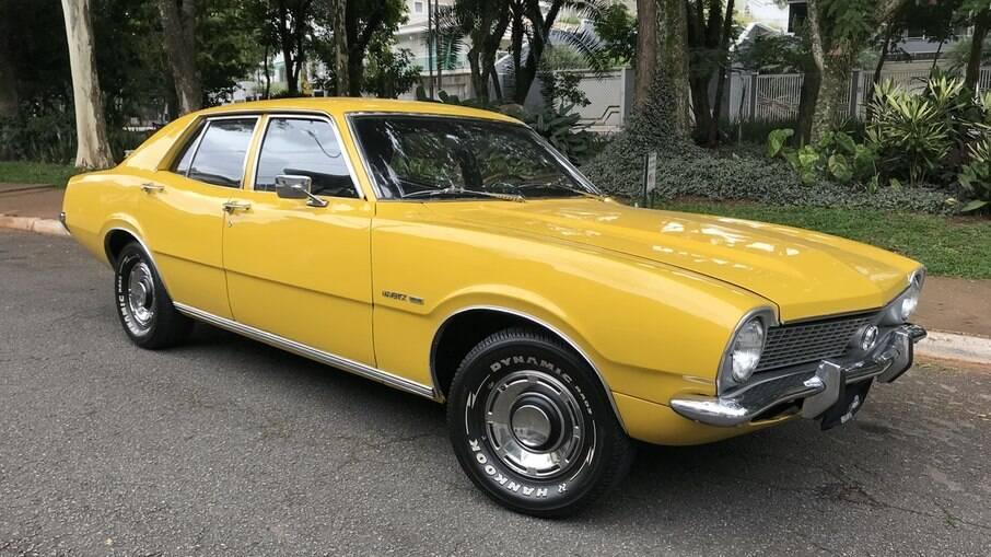 Maverick Super Luxo foi ícone durante a década de 70 com motor V8, câmbio na coluna de direção e ar-condicionado