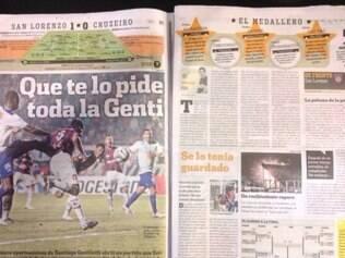 Diário Olé manchetou que Gentiletti fez o que a torcida tanto queria: gol