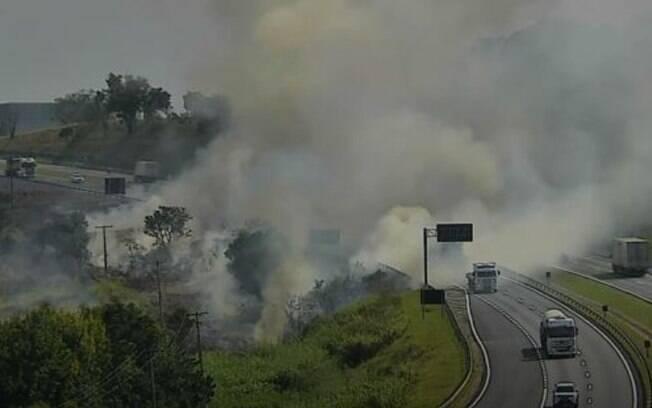Em abril, rodovia D. Pedro tem mais queimadas que nos 3 primeiros meses do ano