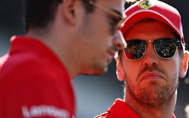 Vettel e Leclerc na Ferrari