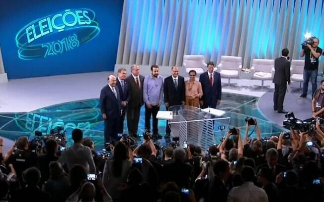 Debate na Globo contou com a participação de sete dos 13 candidatos à Presidência da República