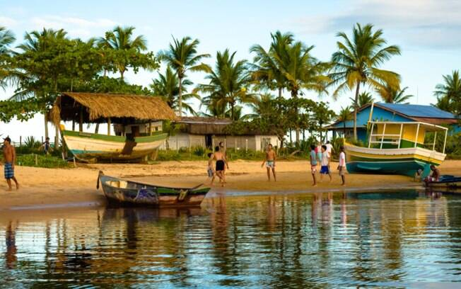 A Praia da Barra é o nome dado para a parte da praia onde o rio e o mar se encontram