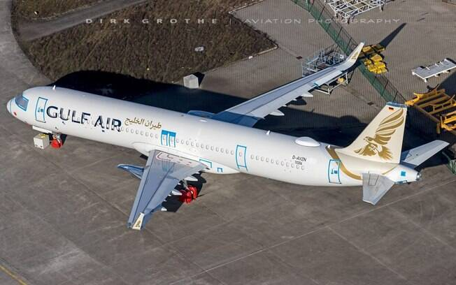 Último A321neo encomendado pela Gulf Air é visto em Hamburgo