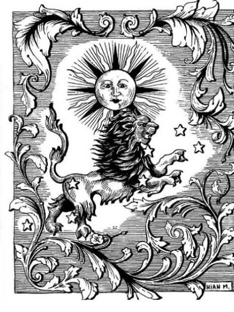 ilustração mostra carta de tarot com letreiro