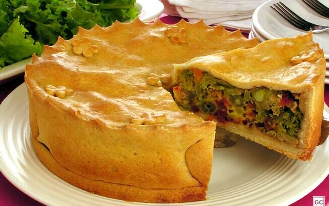 Empadão vegetariano para uma refeição deliciosa e especial