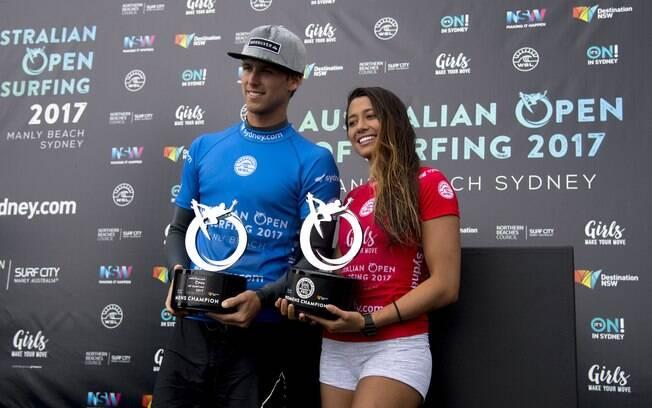 Jessé Mendes é campeão do Aberto da Austrália de Surfe e lidera ranking do QS