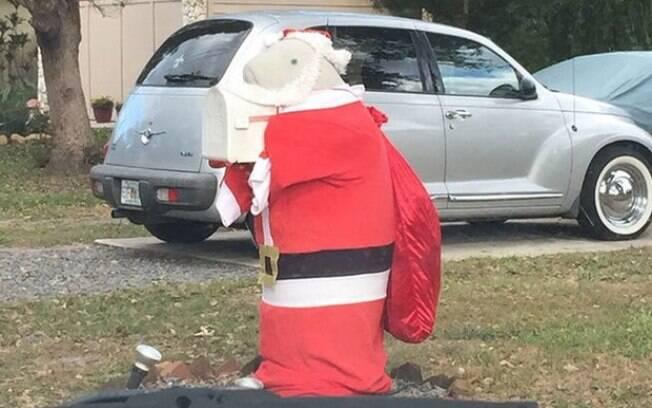 A foto que mostra a caixa de correio decorada para o Natal foi a que mais agradou e fez sucesso na internet