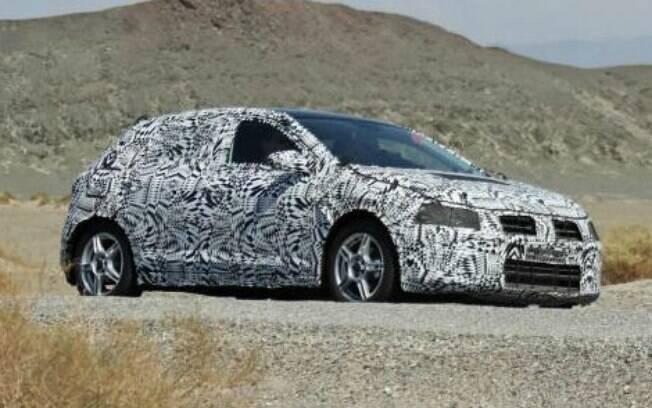 Nova geração do Volkswagen Polo, que servirá de base para o novo Gol, é testada no deserto do Arizona, EUA