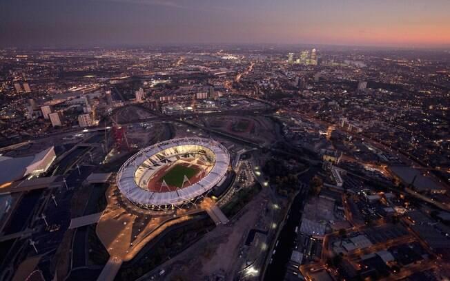 Imagem aérea do Parque Olímpico de Londres