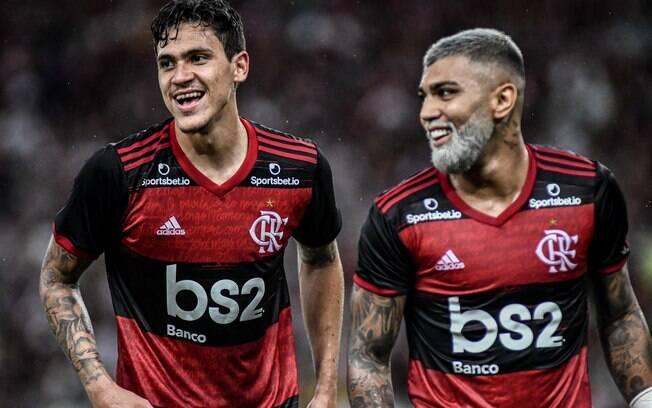 Pedro e Gabigol,  atacantes do Flamengo