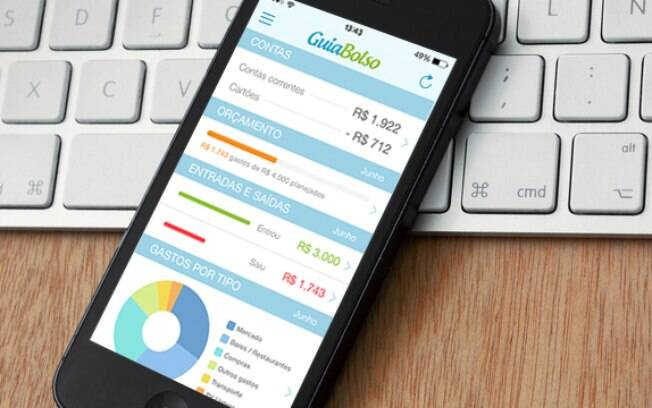 O aplicativo GuiaBolso ajuda o usuário a organizar suas finanças pessoais