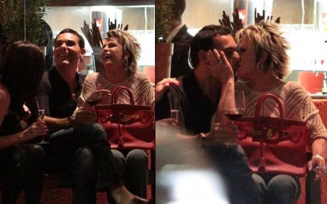 Ana Maria Braga e Marcelo Frisoni: entre risadas e beijos