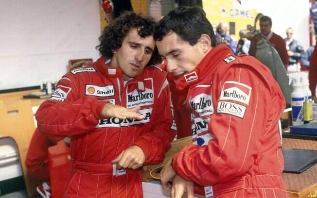 Alain Prost e Ayrton Senna fizeram uma das maiores rivalidades da história da Fórmula 1