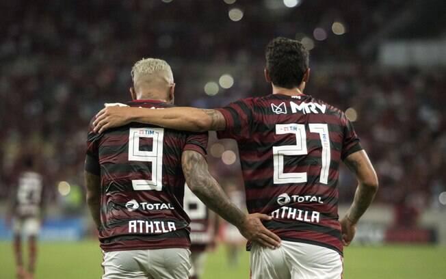 Os gols do Flamengo foram de Gabigol e Pedro