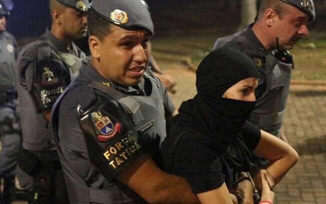 Manifestação terminou com repressão da polícia