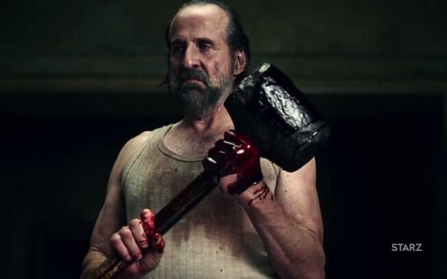 As dez melhores cenas de ''American Gods'': a sede por sangue dos olhos do deus Czernobog no segundo episódio
