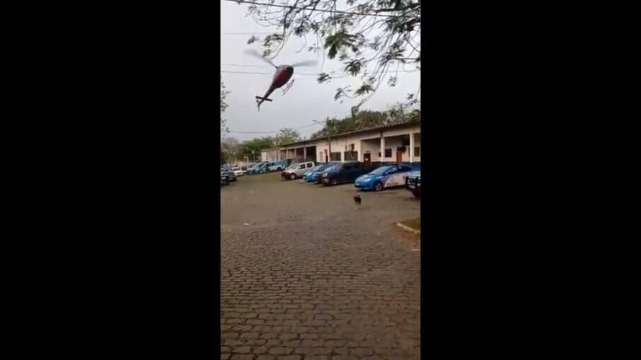 Helicóptero parecia estar descontrolado no Rio