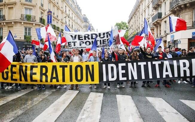 Protesto de Extrema Direita na França