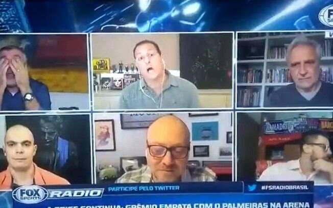 Benja discute com Facincani no Fox Sports