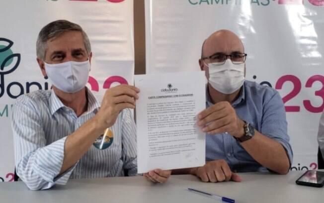 André von Zuben oficializou apoio em evento com a presença de Dário.