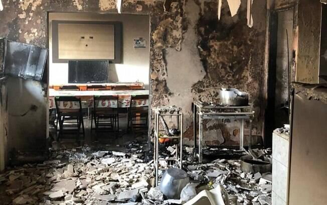 Incêndio atinge clube paraibano, e jogadores pulam do 1º andar para se salvar