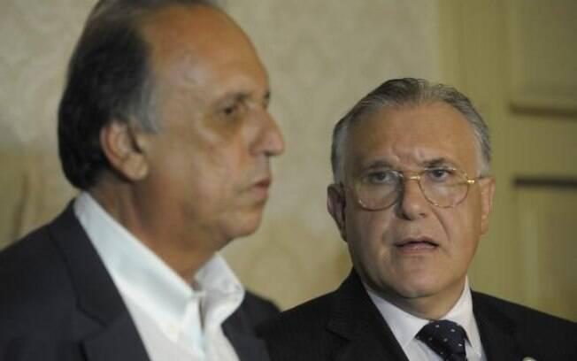 O governador Pezão e o secretário de Atenção à Saúde do Ministério da Saúde,, Alberto Beltrame, anunciaram situação de emergência e repasse de verbas para conter crise