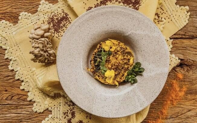 Risoto de quinoa com shimeji