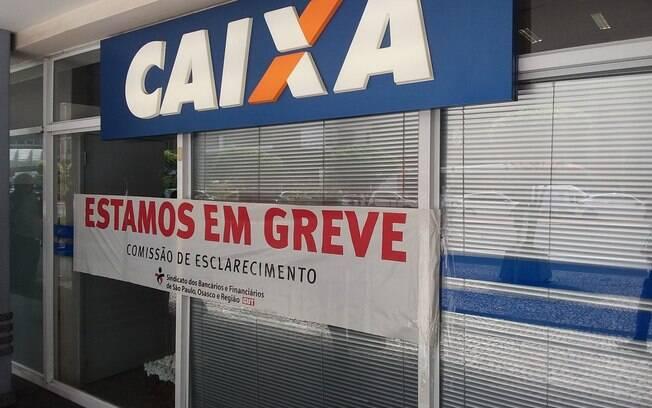 Greve em protesto contra a reforma da Previdência fechou diversas agências bancárias em São Paulo