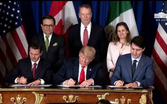 Líderes dos EUA, México e Canadá renovam acordo comercial durante o G20