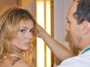 Marcos Proença muda o visual da atriz